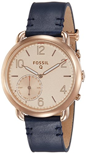 Fossil Hybrid Smartwatch - Q Tailor Dark Navy Leather by Fossil