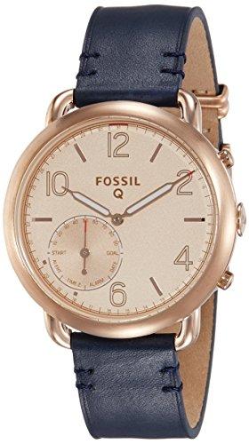 Fossil Q Tailor Gen 2 Women's Dark Navy Leather Hybrid Smartwatch FTW1128