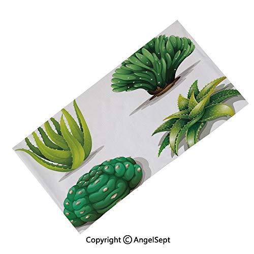 Multifunction Seamless Bandana Magic Scarf, Teapot Vintage Style Design Floral Background Ornamental Lace Leaf Pattern Art Blue White,Outdoor Sport Bandanna Seamless Headwrap Scarf ()