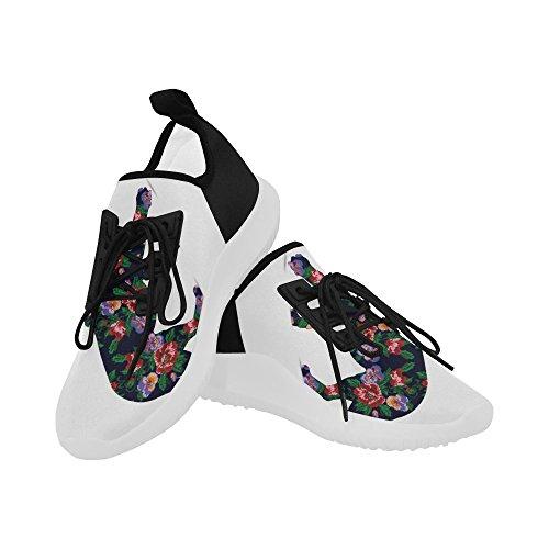 Interestprint Prachtige Vlinder Op Jeans Dolfijn Ultra Lichte Loopschoenen Voor Dames Leeuw
