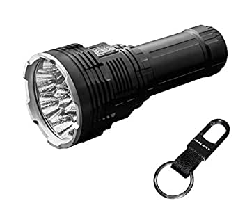 IMALENT DX80 Brightest Flashlight 32000 Lumens Powerful Flood LED Torch 8pcs CREE XHP70 2nd Generation LEDs with OLED Display Rechargeable Battery Include Best for Searching, Rescue and Night Fishing
