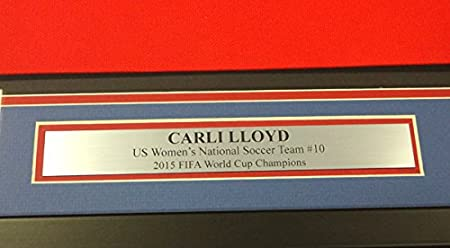Carli Lloyd Autographed Framed Red Nike Jersey Team USA
