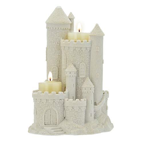 "Mr. Sandman Sand Castle Figurine Collectible Beach Home Decor Sandcastle 719 8"" Tall (White)"