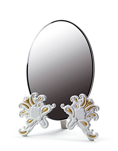 VANITY MIRROR ( WHITE / GOLD ) Lladro Porcelain by Lladro