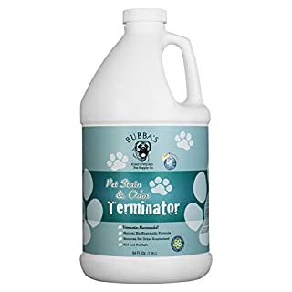 BUBBAS Super Strength Commercial Enzyme Cleaner - Pet Odor Eliminator | Enzymatic Stain Remover | Remove Dog Cat Urine Smell from Carpet, Rug or Hardwood Floor and Other Surfaces (64oz)