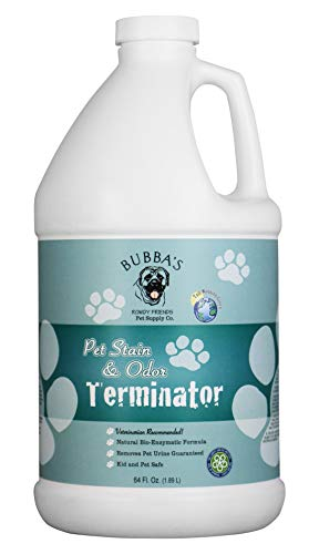 (BUBBAS Super Strength Commercial Enzyme Cleaner - Pet Odor Eliminator | Enzymatic Stain Remover | Remove Dog Cat Urine Smell from Carpet, Rug or Hardwood Floor and Other Surfaces (64oz))