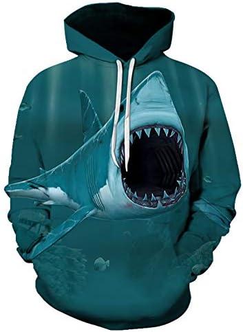 パーカー3D印刷サメ秋と冬のスウェットシャツカジュアルストリート衣料品S 6 XL