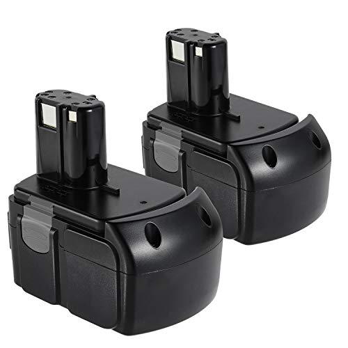 ARyee 18V 4000mAh/4.0Ah Replacement Battery for Hitachi BCL1840 BCL1815, BCL1830, 327730, 327731, 326240, 326241,Hitachi Cordless Power Tool Battery(2, Hitachi BCL1840 18V 4000mAh)