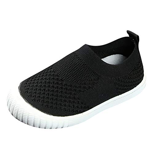 - CCFAMILY Children Kids Baby Girls Boys Solid Mesh Sport Run Sneakers Casual Shoes Black