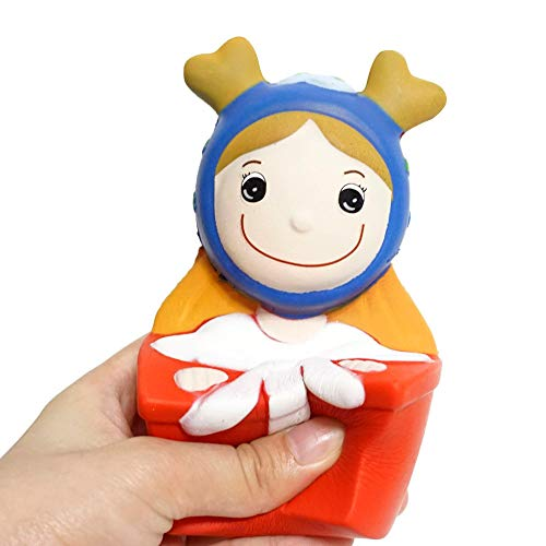 DEESEE(TM))Squishyies Cartoon Christmas Princess Scented Slow Rising Stress Reliever Toy