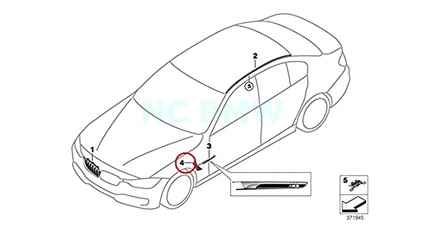 BMW Genuine Left Rear Screen Wire Duct Upper Part