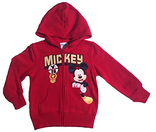 Disney Mickey Mouse Little Boys Toddler Zip Hoodie (4T) (Disney Sweatshirt Mickey)