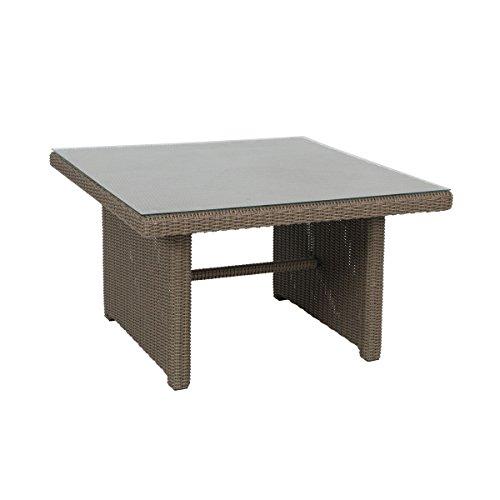 Greemotion Tisch New York Braun Esstisch Inklusive Glasplatte