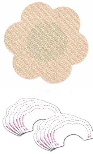 バンドル換気する高度バストアップシール+ニプレス付き   女性  不織布製   ブラ  テープ  かぶれにくい  カット  5組10枚セット