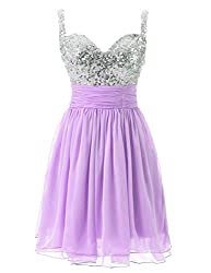 Tulle Sequin Short Dress