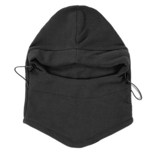 1pc Winter Ski Bike Wind Stopper Face Mask Men Neck Warmer Winter Fleece - Black