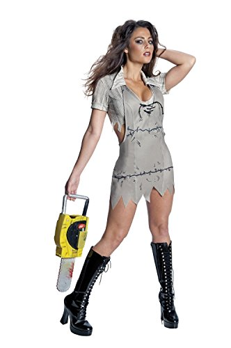 [Texas Chainsaw Massacre Miss Leatherface Costume, Standard Color, Medium] (Sexy Monster Halloween Costumes)