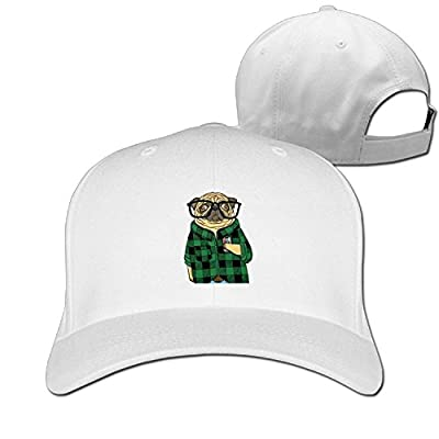 DIYoDGG Pug with Shirt and Beer Baseball Cap Unisex Plain Hat