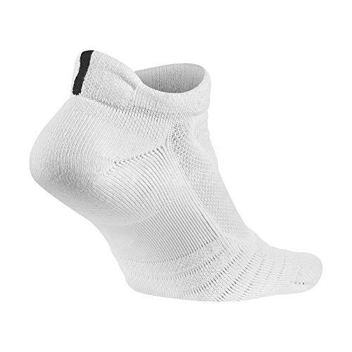 147d023ea Nike Elite Versatility Low Adult Basketball Athletic Training Socks (L  8-12, 100 White/Black)