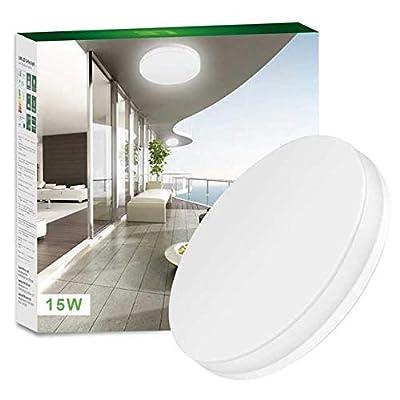 LED Salle De Bain 15W 1250lm Etanche IP54 Non Dimmable 5000K Blanc Lumire Du Jour Equivalent Lampe Incandescente 120W Parfait Pour Cuisine