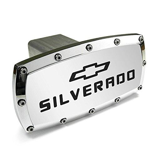 (Chevrolet Silverado Billet Aluminum Tow Hitch Cover)