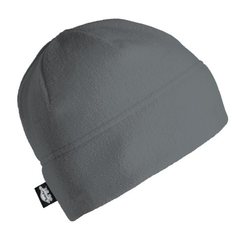 Fleece Ski Hat (Turtle Fur Midweight Multi-Season Beanie, Chelonia 150 Fleece Hat, Charcoal)