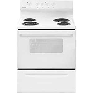 "FFEF3005MW 30"""" Freestanding Electric Range with 4 Coil Elements 4.2 cu. ft. Storage Drawer Chrome Dip Bowls and Interior Light in White"