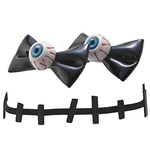 Creepy Cute Halloween Costumes (Cute Kawaii Costume Halloween Hair Clip Eyeball Bow Stitch Choker Accessory Set)