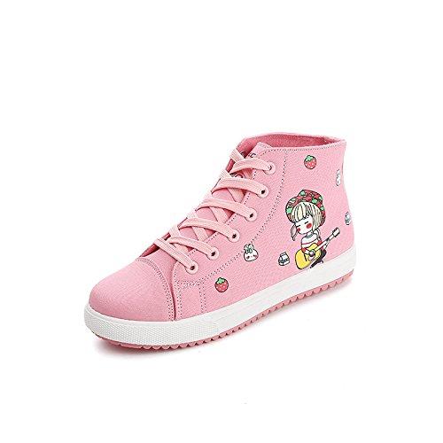 Zapatos De pink Zapatos amp;G Tela Zapatos Altos Hembra NGRDX Plana Salvaje Zapatos Casual Sp8RUWwqw