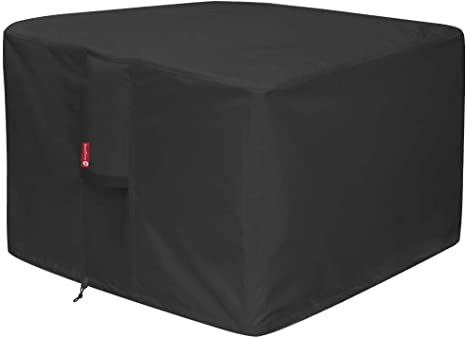 Amazon Com Gas Fire Pit Cover Square Premium Patio Outdoor Cover Heavy Duty Fabric With Pvc Coating 100 Waterproof Anti Crack Fits For 30 Inch 31 Inch 32 Inch Fire Pit