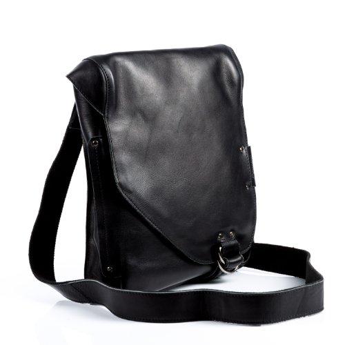 """BACCINI Messenger bag BRIZIO - Umhängetasche fit für 13"""" laptop, iPad - Notebook-Tasche echt Leder schwarz"""