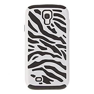 GHK - Zebra-Stripe PC and Silicone Case for Samsung S4 I9500 , Red