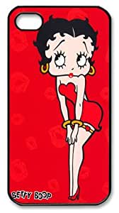 Betty Boop iPhone 4 4s Case - Black Case for iPhone 4 4s Betty Boop Custom iPhone 4s Case