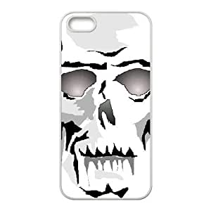 Colored Skeleton Skull Unique Design Cover Case with Hard Shell Protection for Iphone 5,5S Case lxa#868768