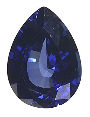 Blue Lab Sapphire Pear Unset Loose Gem Synthetic Corundum 15mmx11mm by uGems