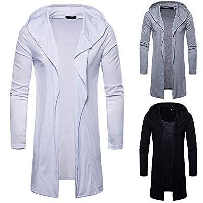 POHOK Clearance Deals ! Mens' Autum Winter Long Sleeve Pocket Patchwork Hooded Sweatshirt Outwear Tops