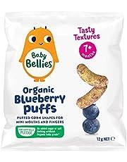 Little Bellies Organic Baby Blueberry Puffs 12 g x 6