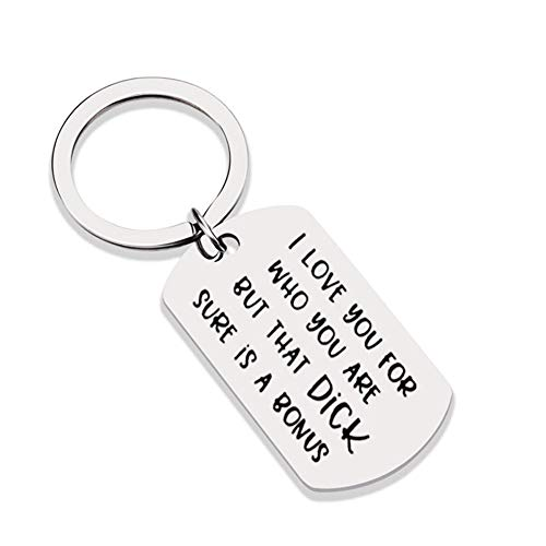 I Love You for Who You Are Pendant Keyring Couple Keychain Bag Hanging Decor