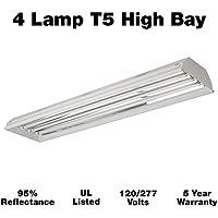 High Bay Fluorescent Lighting Fixture - 4-Lamp...