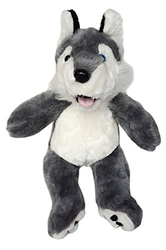 Cuddly Soft 16 inch Stuffed Wolf - We stuff 'em...you love 'em! from Stuffems Toy Shop