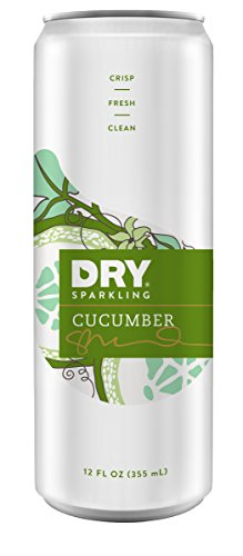 DRY Sparkling Can, Cucumber, 12 Count