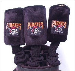 Pittsburgh Pirates MLB 3 piece Golf Headcover set