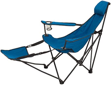 Amazon Com Mac Sports Cannon Beach Deluxe Folding Chair With Footrest Lawn Chairs Garden Outdoor