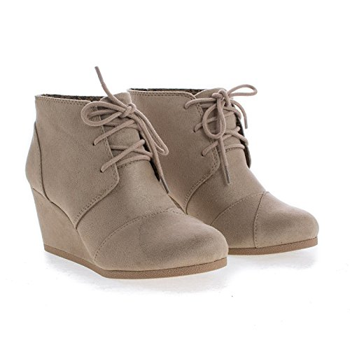 Lace up Taupe Soda Lt Ankle Imsu Oxford Bootie AdqdwT5