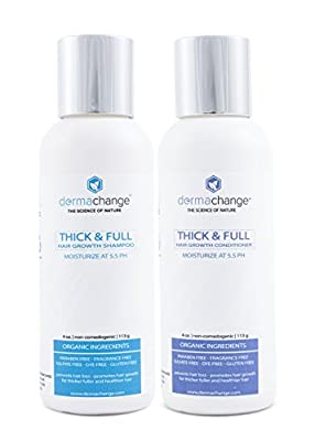 Hair Growth Organic Shampoo and Conditioner Set - Grow Hair Fast - Sulfate Free - Best Hair Products With Vitamins - Prevent Hair Loss - Helps Dermatitis - For Women and Men - Made in USA