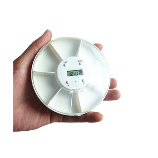 Pixnor - Pastillero electrónico y automático, con alarma recordatorio, dispensador de pastillas 6