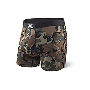 Saxx Men's Underwear – Vibe Boxer Briefs with Built-in Ballpark Pouch Support, Core