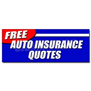 "12"" Loose AUTO INSURANCE QUOTES DECAL sticker car motorcycle homeowner geico save"