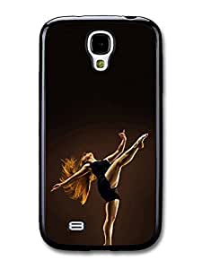 AMAF ? Accessories Ballet Contemporary Dancer with Red Hair Black Swan case for Samsung Galaxy S4