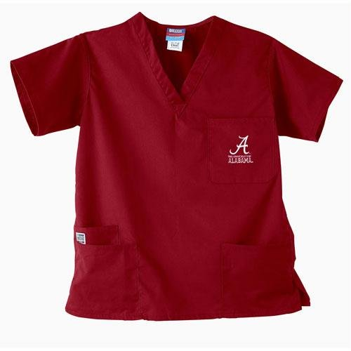 Alabama Scrubs (Alabama Crimson Tide NCAA GelScrubs 5 Pocket Top (Crimson))
